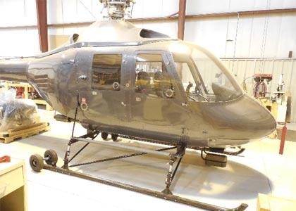 полозковое шасі для вертольотів Hummingbird